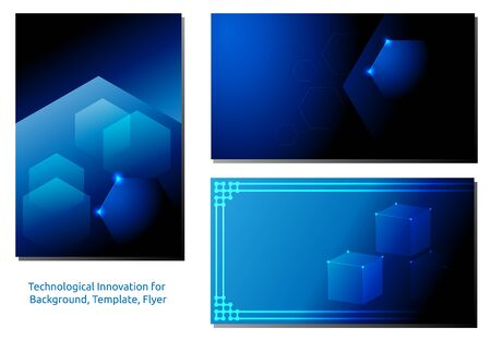 Abstract from the hexagon of technological innovation. futuristic - flyers, banners, backgrounds, web - vector.