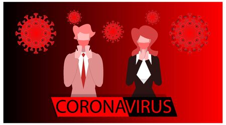 the danger of corona viruses is to plague humans. poster - warning flyer. news