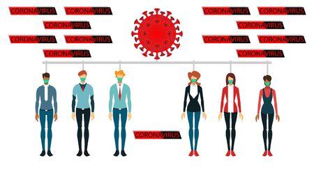 list of people infected with the disease - corona virus. coronavirus