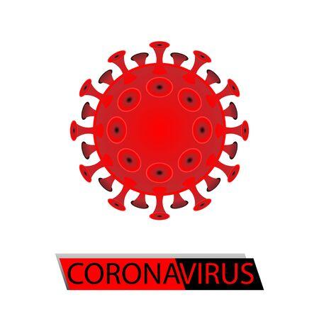 mascot, illustration of corona virus, vector