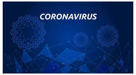 web headline template, about corona virus. modern style technology. vector
