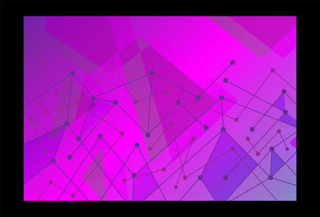 Abstract technological innovation with connected line and dots. futuristic - flyers - banners - backgrounds - web. headline empty 矢量图像