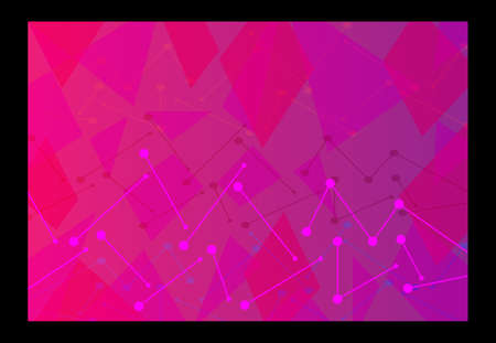 Abstract technological innovation with connected line and dots. pink futuristic - flyers - banners - backgrounds - web. headline 矢量图像