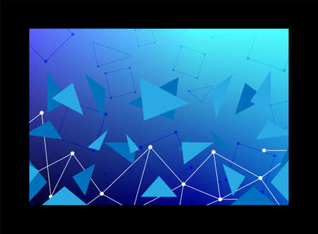 Blue Abstract technological innovation with connected line and dots. futuristic - flyers - banners - backgrounds - web. headline 矢量图像