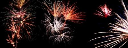 silvester: Fireworks, Silvester Stock Photo