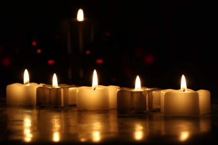 atmospheres: Candles Stock Photo