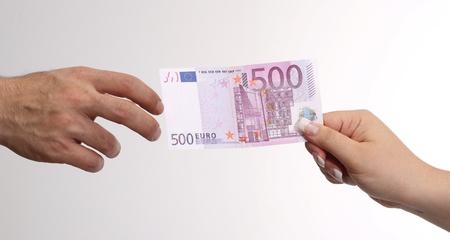 negotiable: 500 Euro Stock Photo
