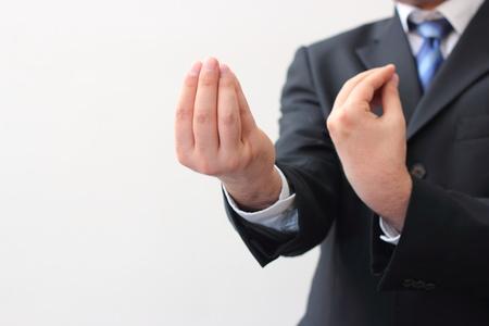 Businessman explaining his ideas Stock Photo