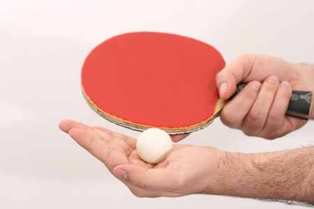 forehand: table tennis serving with the forehand