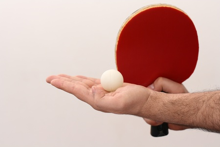 forehand: table tennis service with the forehand