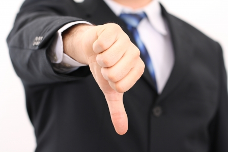 dislike: Houd niet teken, duim naar beneden