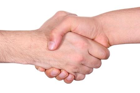 handshake between two business people photo