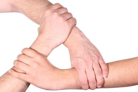 Human Hands building a closed circle