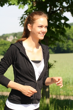 running in the nature photo