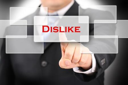dislike: afkeer Stockfoto