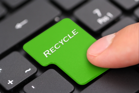 recycle waste: reciclar