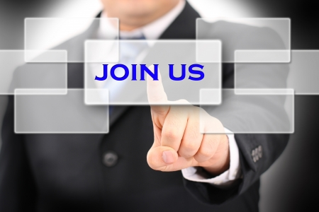 join: join us Stock Photo