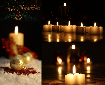 candle light in christmas Stock Photo - 15682821