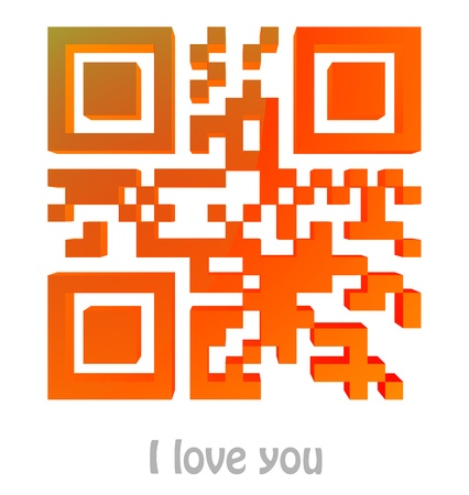 QR Code of  I love you  Stock Photo