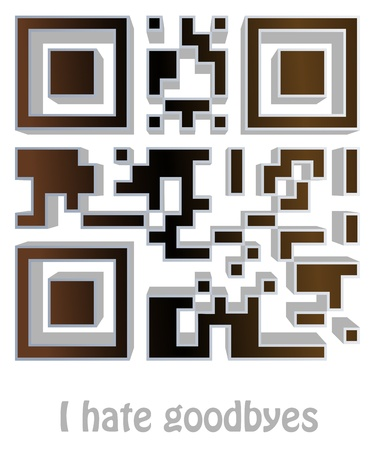 qr code of  I hate goodbyes