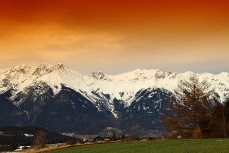 beautiful Scene in Innsbruck, Tirol in Austria Stock Photo