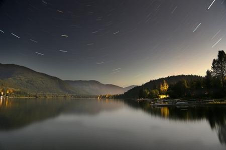 star trails, anta lake