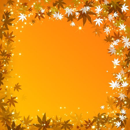 Abstract autumn leaves golden background photo