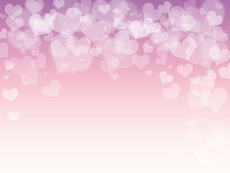 fading: Pink purple hearts abstract background Stock Photo