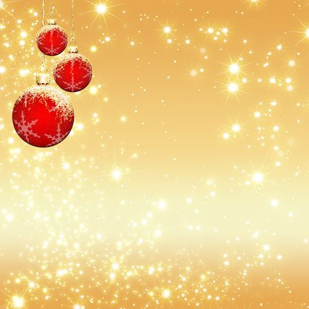 sparkle christmas background with stars, snows, balls photo