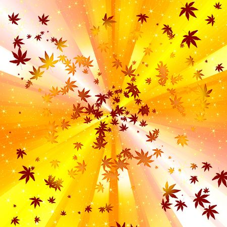 abstract autumn leave spiral background photo