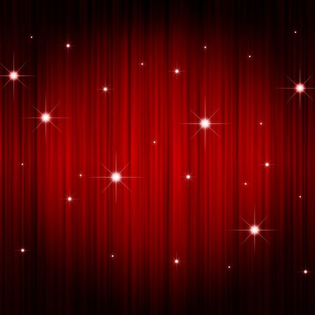 stage decoration abstract: red curtain background
