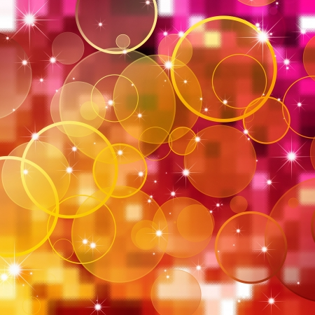 magenta: abstract bubbles background Stock Photo