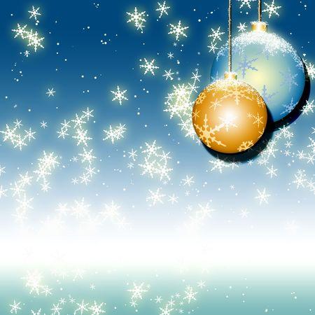 Blue christmas background Stock Photo - 5806854