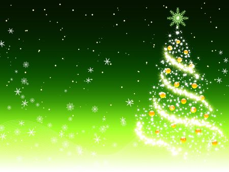 Green christmas background Stock Photo - 5836385