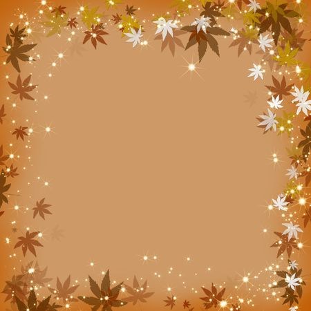autumn leave frame photo