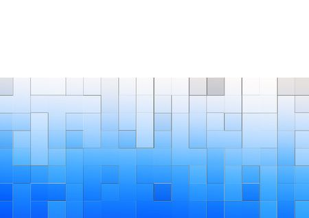 blue square abstract background Stock Photo - 5867808