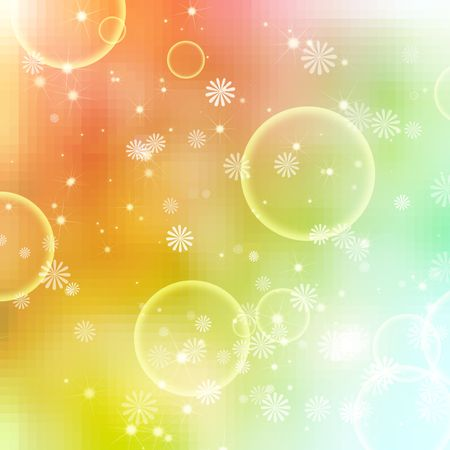 abstract floral bubbles on colorful background Stock Photo - 5867815