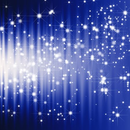Glitter stars on dark blue background photo