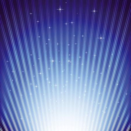 light burst: Funkelnde Sterne auf blaue Licht burst-Hintergrund