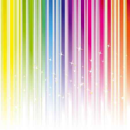 rainbow colours: Abstract rainbow color stripe background with stars