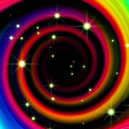 rainbow abstract background with glitter stars photo