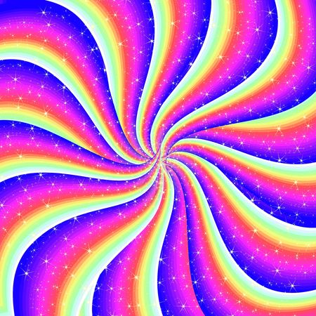 abstract colorful spiral background Stock Photo - 6182968