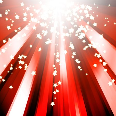 abstract sparkle star red background photo