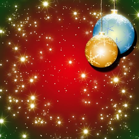 shinning light: red christmas background
