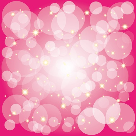 Sparkling stars bubbles on magenta background Vector