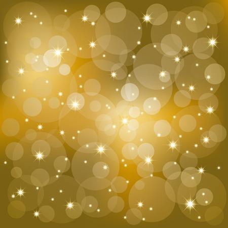 Abstract golden sparkling stars light background Vector