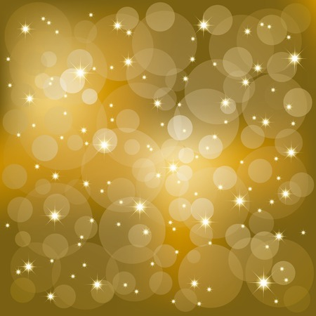 shimmer: Abstract golden sparkling stars light background Illustration