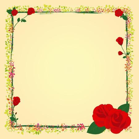 Cornice rosa fiori giardino estivo  Archivio Fotografico - 6895271