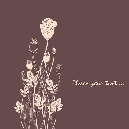 추상 장미 꽃 배경