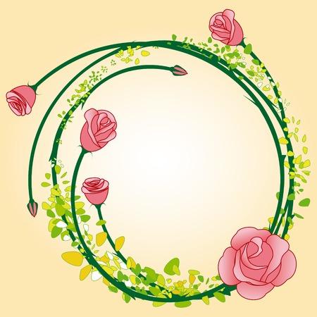 Fiore rosa astratto sfondo dei frame  Archivio Fotografico - 6895267